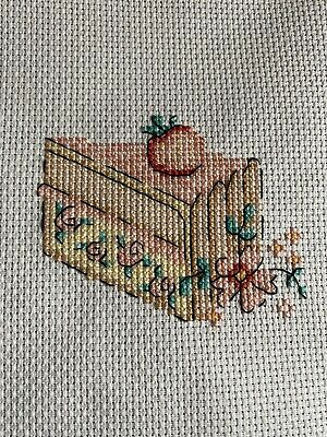 £1 • Buy Completed Cross Stitch - Birthday Card Insert