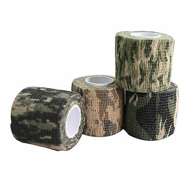 £1.94 • Buy Self-adhesive Non-woven Camouflage WRAP RIFLE GUN Hunting Camo Stealth Tape   VV