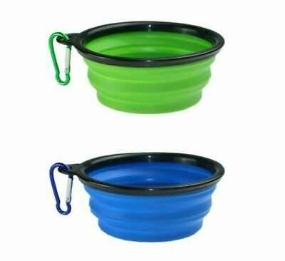 Pet Dog Cat Collapsible Feeding Bowl Travel Portable Silicone Water Dish Feeder • 1.99£