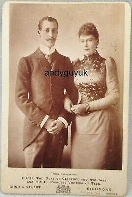 £4.99 • Buy Cabinet Card Duke Clarence Avondale Mary Of Teck Princess Royalty Antique Photo