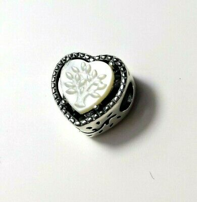 AU18.50 • Buy Family Tree Mother Pearl Charm SILVER EUROPEAN CHARM By Pandora's Love