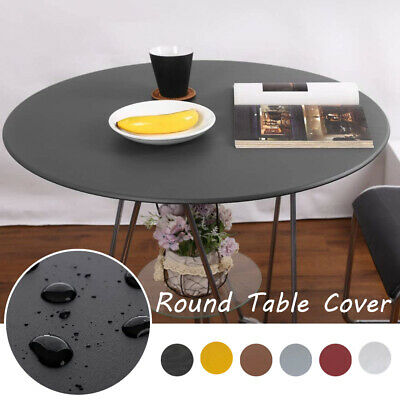 £8.99 • Buy UK Waterproof Round Table Cover Cloth Protector Tablecloth With Elastic Edged