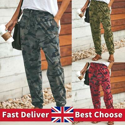 £9.68 • Buy UK Ladies Casual Camo Print Joggers Trousers Tracksuit Bottoms Jogging Gym Pants