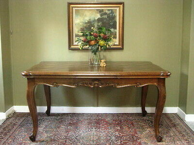 AU1650 • Buy French Oak Louis Xv Style Extension 2 Leaf Dining / Kitchen Table ~ Seats 6 - 10