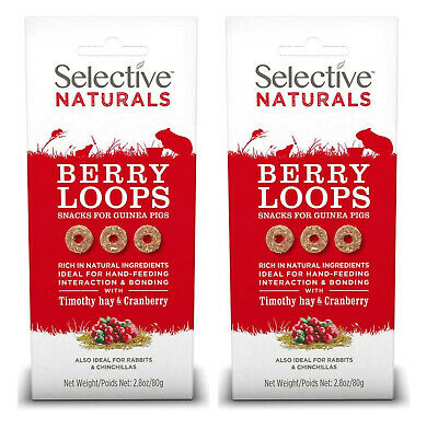 £7.99 • Buy 2x Selective Naturals Berry Loops Small Animal Timothy Hay & Cranberry Treat 80g