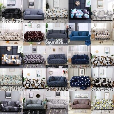 AU12.98 • Buy High Stretch Sofa Cover Couch Lounge Protector Slipcovers 1/2/3/4 Seater Covers
