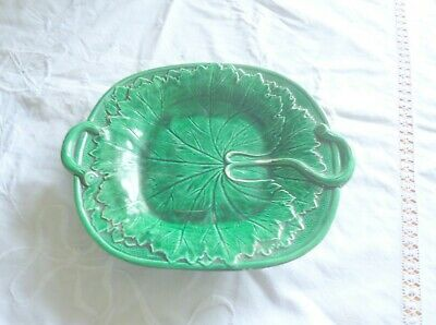 £0.99 • Buy Old Majolica? Cabbage Leaf Plate