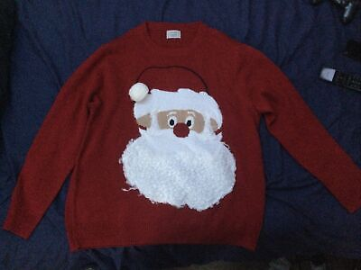 $6.93 • Buy Santa Christmas Jumper Mens Extra Large XL Pit To Pit 24