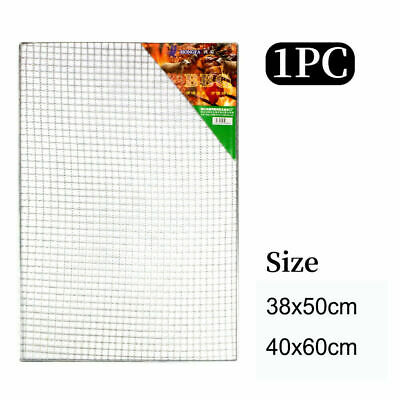 £7.99 • Buy BBQ Stainless Steel Grill Grate Grid Wire Mesh Rack Cook Replacement Net - 2Size