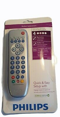 £9.99 • Buy Philips SRP3004/10 4 In 1 Big Button Remote Control New In Packaging.