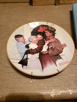 $ CDN7.22 • Buy 1985 Norman Rockwell Gorham China Christmas Plate Home For The Holidays #3661