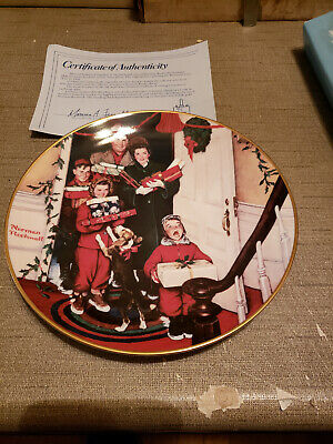 $ CDN7.22 • Buy 1986 Norman Rockwell Gorham China Christmas Plate Merry Christmas Grandma #7557