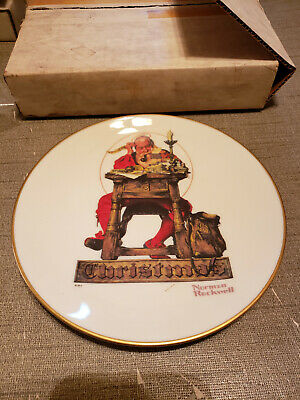 $ CDN7.22 • Buy 1980 Norman Rockwell Gorham China Christmas Plate Letter To Santa