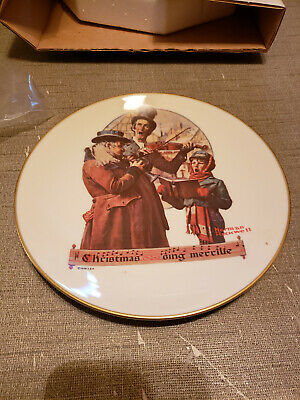 $ CDN7.22 • Buy 1976 Norman Rockwell Gorham China Christmas Plate Christmas Trio
