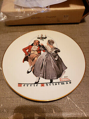 $ CDN7.22 • Buy 1983 Norman Rockwell Gorham China Christmas Plate Christmas Dancers #4448
