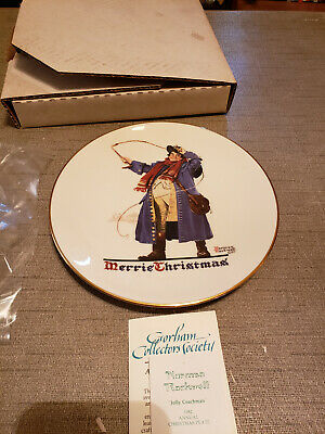 $ CDN7.22 • Buy 1982 Norman Rockwell Gorham China Christmas Plate Jolly Coachman