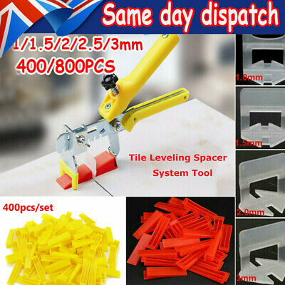 £23.59 • Buy 400/800x Tile Leveling Spacer System Tool Clips / Wedges Flooring Lippage Plier✔