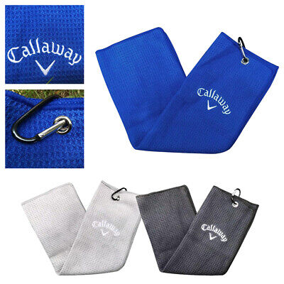 £8.79 • Buy Callaway Golf Tri Fold Corporate Cotton Bag Towel 16  X 21 - New 3 Colours