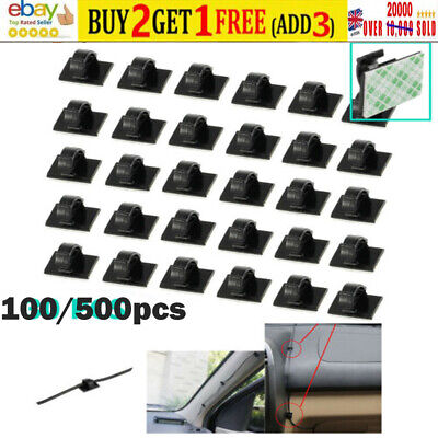 £0.99 • Buy 100-500xCar Cable Clips Self-Adhesive Cord Management Wire Holder Organizer