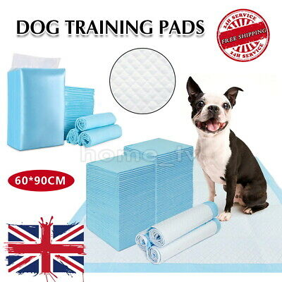 £13.99 • Buy 1-200x Large Puppy Training Trainer Pads Toilet Pee Wee Mats Dog Cat 60x90cm Pet