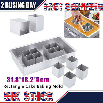£11.99 • Buy Rectangle Cake Baking Mold Tray Number Letter Tins Mould Aluminum Alloy Pan 1set