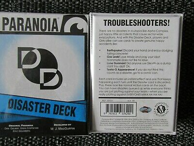 £14.99 • Buy Mgp Paranoia Disaster Deck Troubleshooters Sw Mongoose Publishing New Rpg