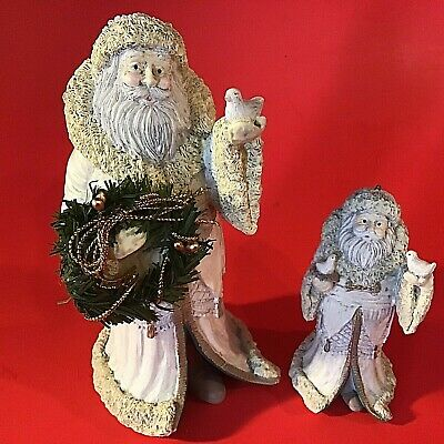 $ CDN26.69 • Buy Santa Claus Figurines Midwest Of Cannon Falls Doves Set Of 2 Vintage Christmas