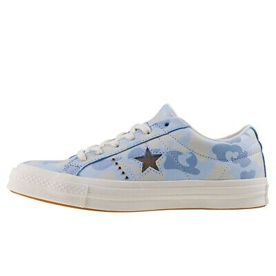 £39.99 • Buy Converse Mens Chuck Taylor One Star Ox Pastel Blue Camo Lace Up Sneaker Trainers