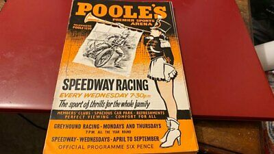 £1.99 • Buy Poole Pirates V Rayleigh Rockets---speedway Programme---22nd June 1960