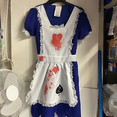 $ CDN8.50 • Buy Horror Alice In Wonderland Halloween Costume Dress & Apron Size 8-10
