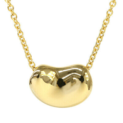 £358.42 • Buy Tiffany & Co. 18K Yellow Gold Bean Necklace Pendant Women Excellent N1889