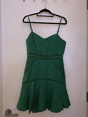 AU15 • Buy FOREVER NEW Causal Green Mini Dress - Size: 8