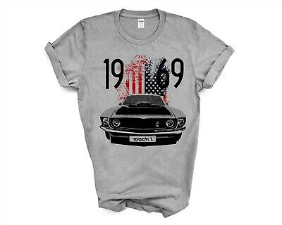$17.99 • Buy Vintage American Muscle Car 1969 Mustang Mach 1 American Classic T-Shirt For Men