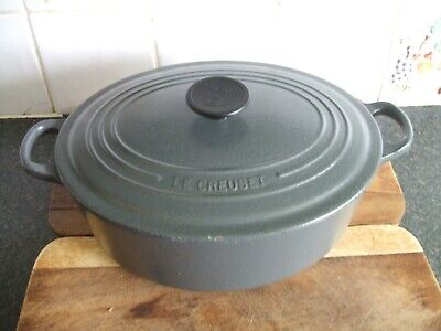 £24.95 • Buy Le Creuset Silver Grey Oval Casserole Dish With Lid Size 29 V.g.c.