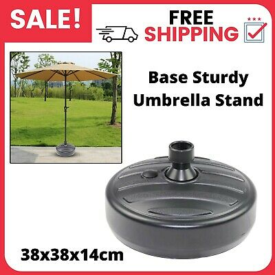 AU29.72 • Buy Parasol Umbrella Base Stand Sand Water Plastic Pole Garden Patio Sun Shade Black