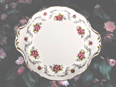 £25 • Buy Royal Albert Tranquillity 'ear' Handled Cake Plate In Excellent Condition