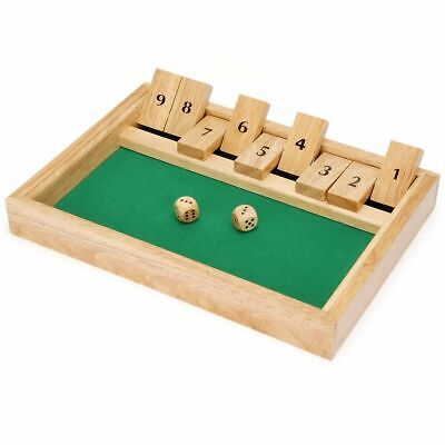 £9.19 • Buy Toyrific Shut The Box Traditional Family Game Board Game Adult Kids Fun Play Toy