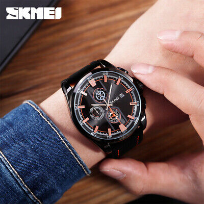 $ CDN24.97 • Buy Skmei Luxury Quartz Men Watch 30m Waterproof Sport Casual Date Stopwatch 9181 4