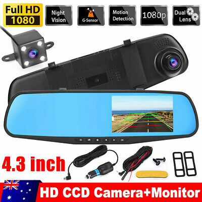 AU40.95 • Buy 1080P Dash Camera Rear View Car Cam Reversing Mirror Front And Rear DVR Recorder