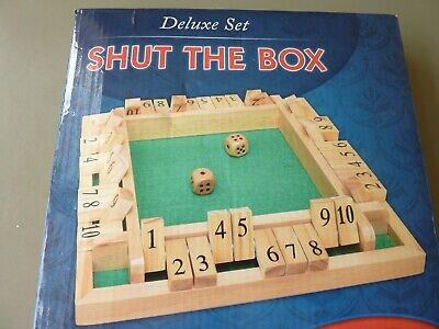 £9.95 • Buy 4 Player Deluxe Shut The Box Board Wooden Game Traditional Dice