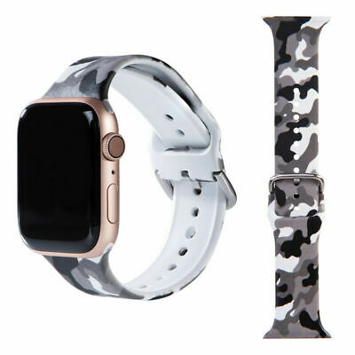$ CDN7.31 • Buy For Apple IWatch Series 1-6 Replacement Strap Band 38 40-42 44 Black Camouflage