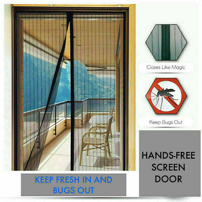 £5.99 • Buy Magic Mesh Curtain Magnetic Fastening Mosquito Fly Bug Insect Net Door Screen
