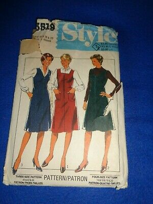 £3.50 • Buy Vintage Style Sewing Pattern - Lady's Pinafore Dress  1981  Sizes 14-20  Uncut