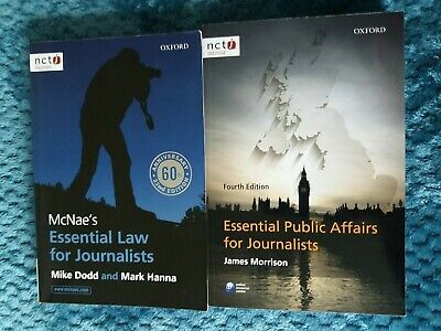 £3 • Buy McNae's Essential Law For Journalists & Essential Public Affairs For Journalists
