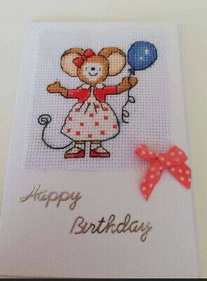 £4 • Buy Childrens Birthday Card Cross Stitch