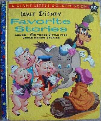 £0.74 • Buy Vintage Giant Little Golden Book ~ WALT DISNEY'S FAVORITE STORIES (Uncle Remus+)