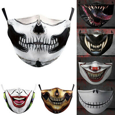 AU12.09 • Buy Halloween Skull Bike Motorcycle Face Mask Reusable Washable Protection Cover AU