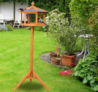 £3.99 • Buy PawHut Bird Stand Feeder Table Feeding Station Wooden Garden Parrot Stand 113cm