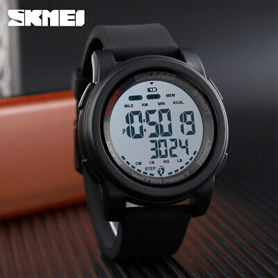 $ CDN14.24 • Buy SKMEI Fashion Sport Wristwatch Men Digital Pedometer Watch 50m Waterproof 1469