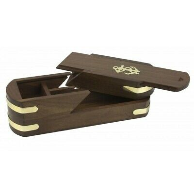 £13 • Buy Wooden Nautical Naval-style Pencil Box, 22cm